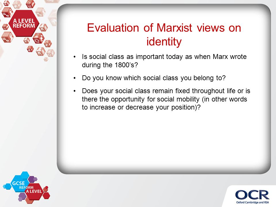 how does marxist theory view class Class conflicts marx's conflict theory focused on the conflict between two primary classes  an example of conflict theory for example, conflict theorists view the relationship between a .
