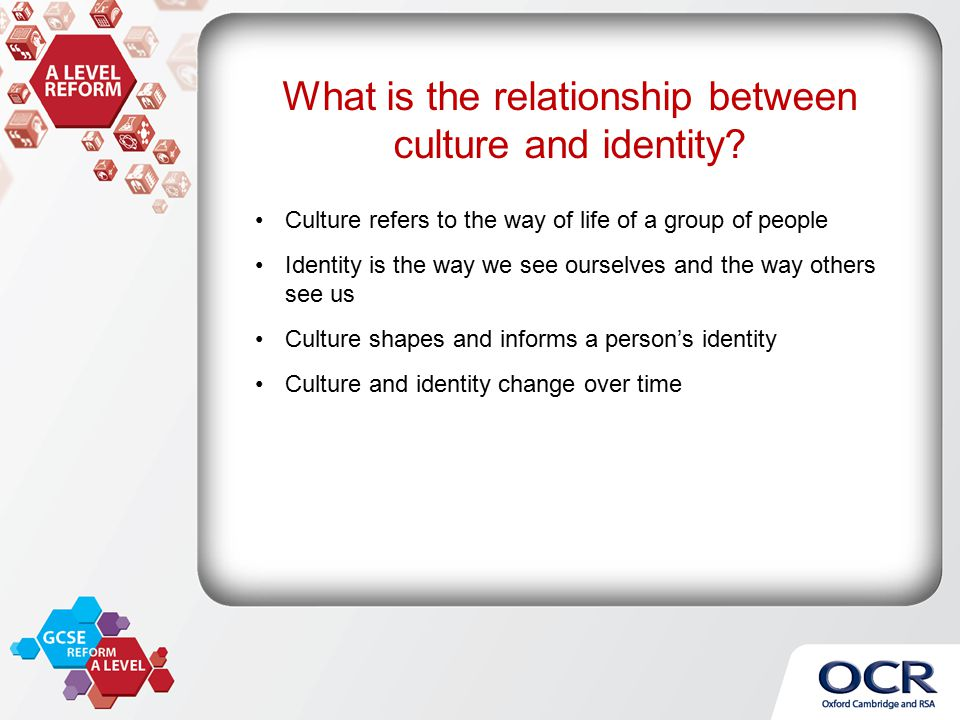 "what is the relationship between culture Race and culture refers to people, groups, and their classifications although both words are very different in how they classify people to start with the concept of race and culture, it is important to know what each of them mean ""race"" is a classification of people according to their physical."