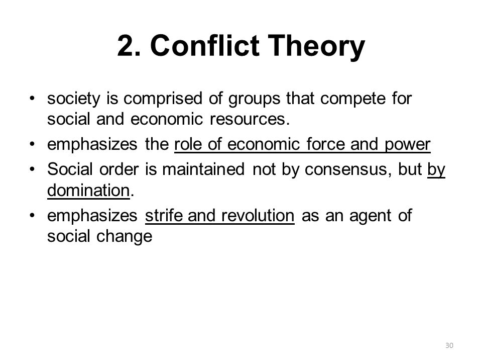 conflict and social order theory Discuss the similarities and differences between conflict of marxist theories and functionalist theories in  consensus with the social order and social rules.