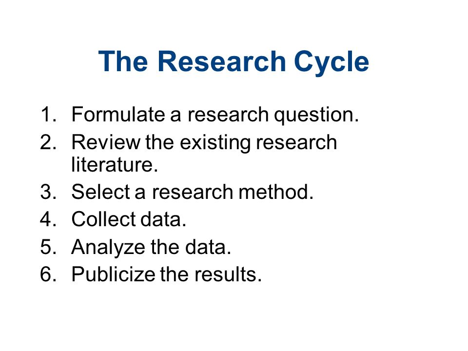 formulating a research question for literature review