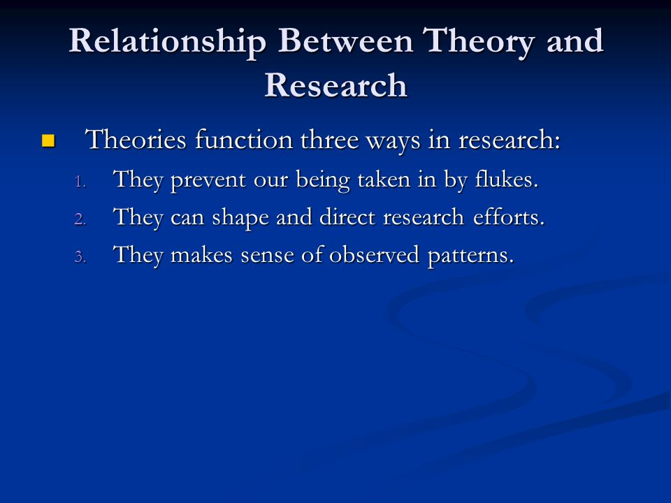 relationship between theory and science