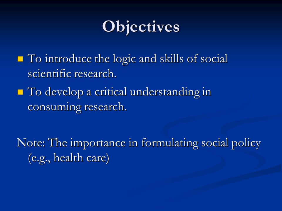 meaning and significance of social research