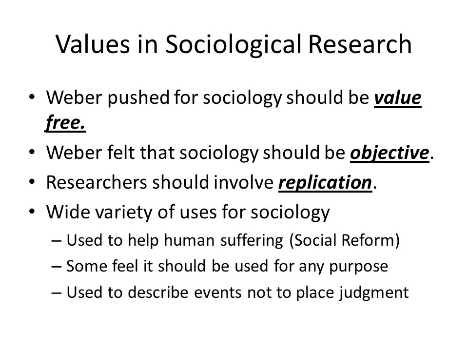 Values in Sociological Research