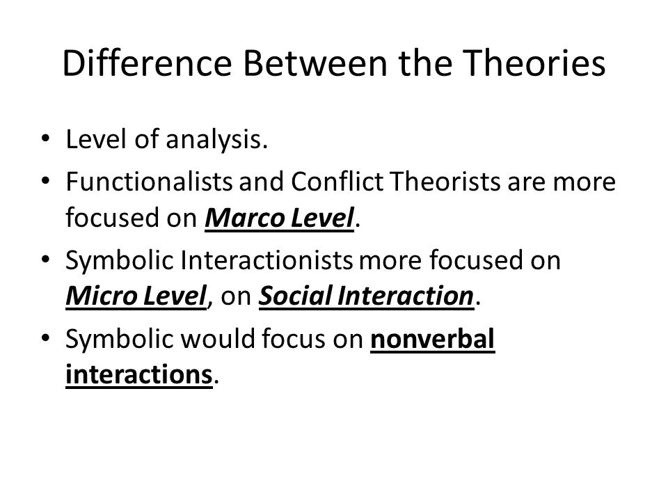 Difference Between the Theories