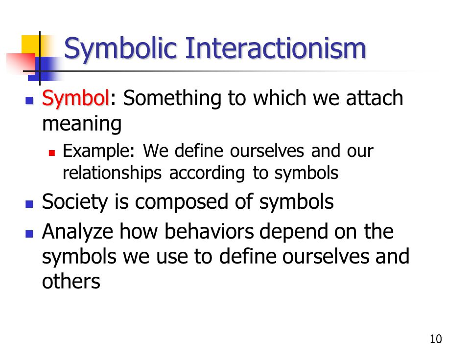 Symbolic Interactionism Theory