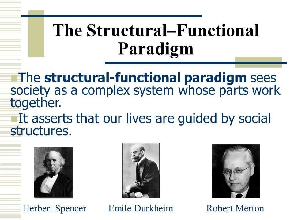 The Structural–Functional Paradigm