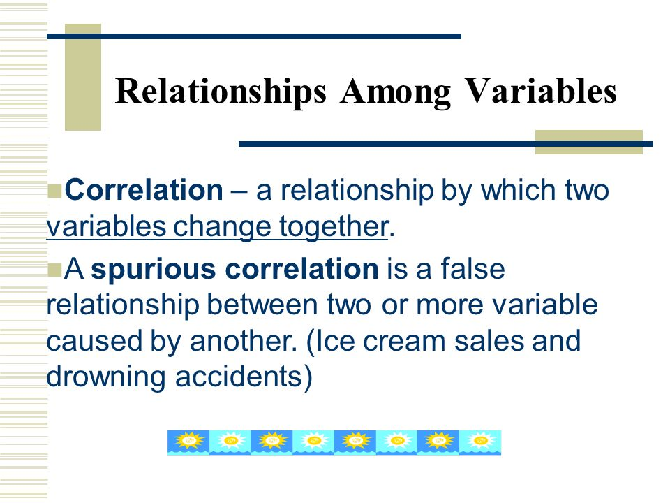 Relationships Among Variables