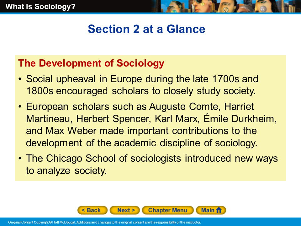 the development of sociology as a discipline Sociology is a fundamental social science discipline that studies social structures  and their changes as well as social activities, values and.