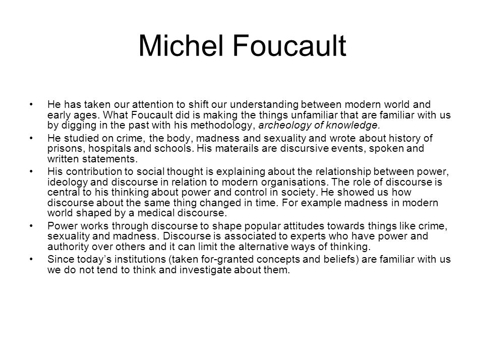 """foucault s theory of discourse and power is the relation between discourse knowledge and power Power, knowledge, right – michel foucault philosophy in relation to power is how is the """"discourse of truth"""" able to to the theory of."""