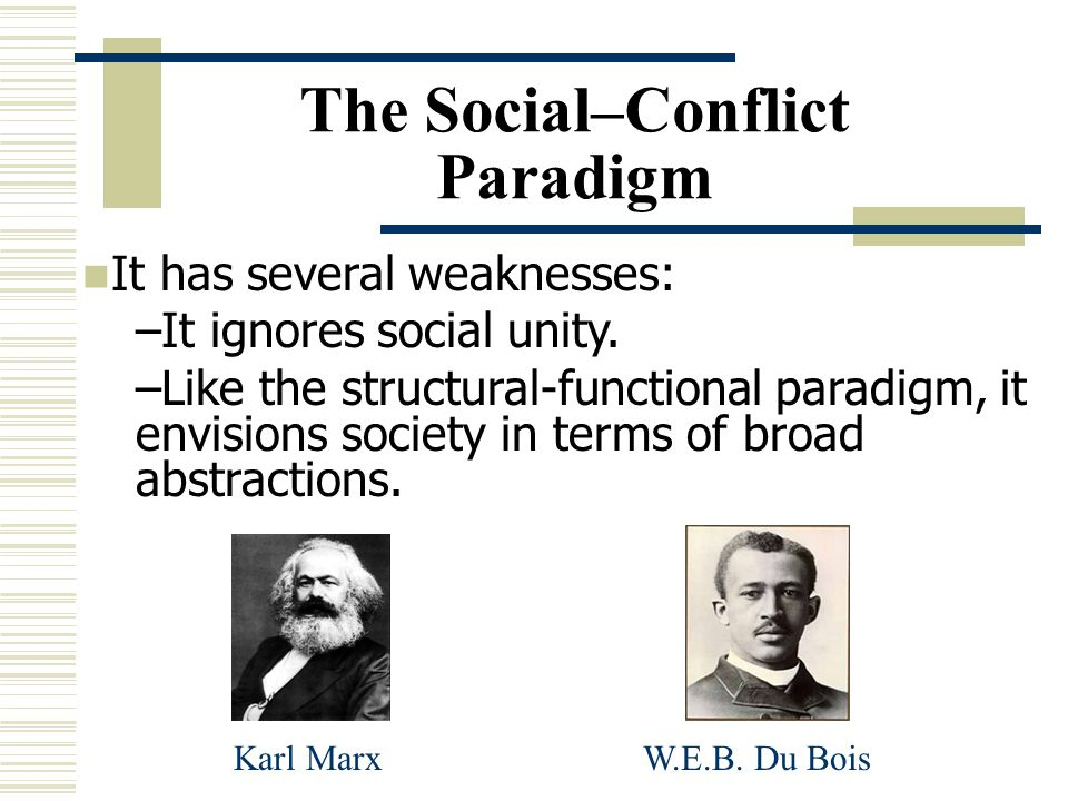 The Social–Conflict Paradigm