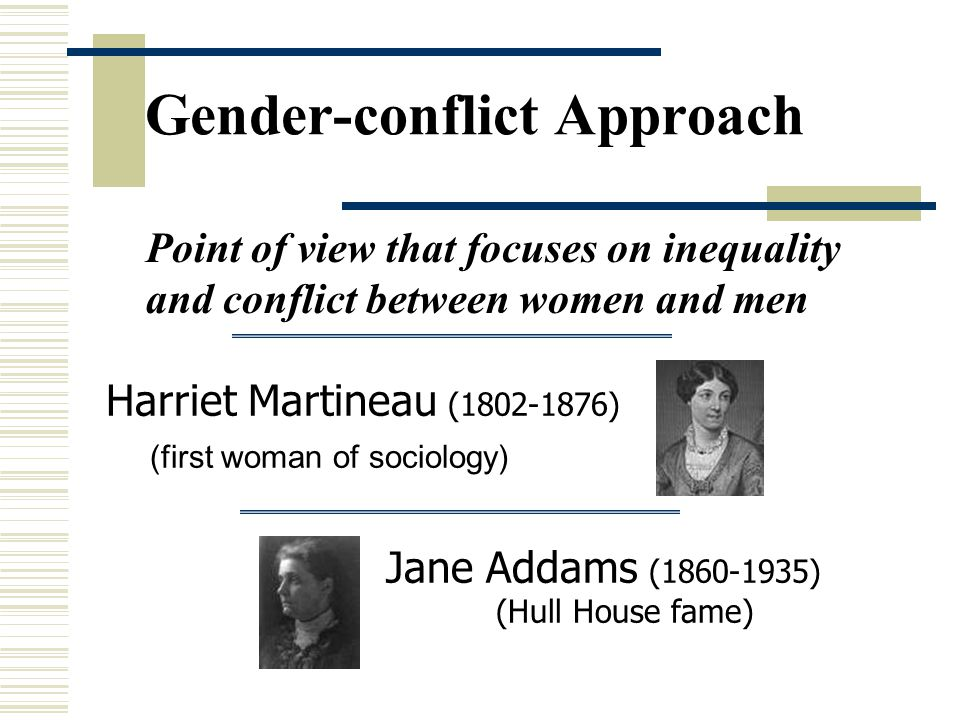 Gender-conflict Approach