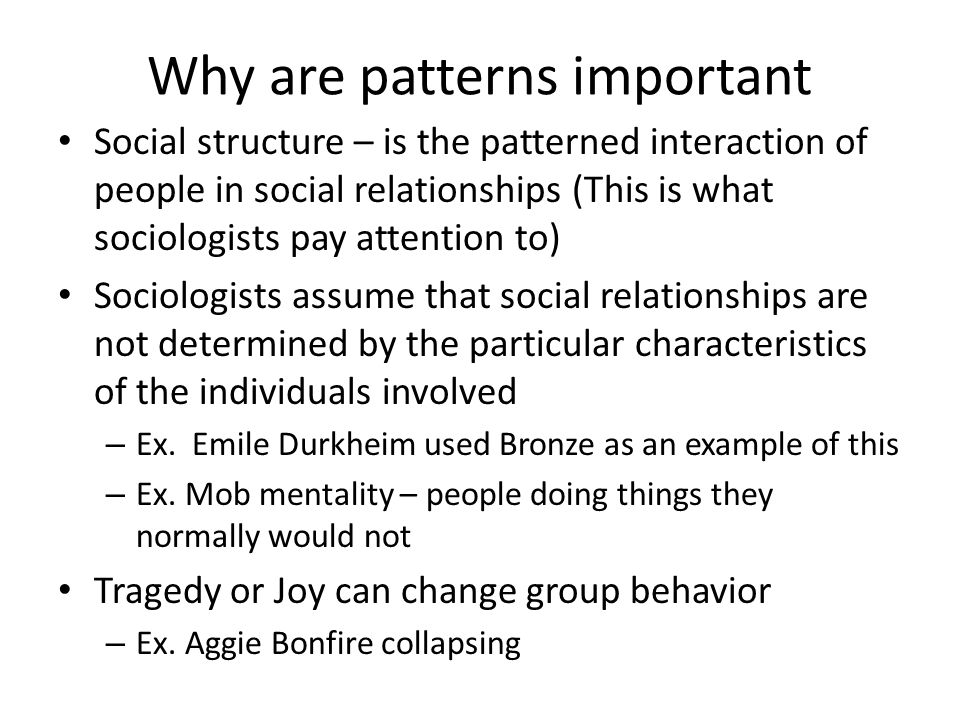 Why are patterns important