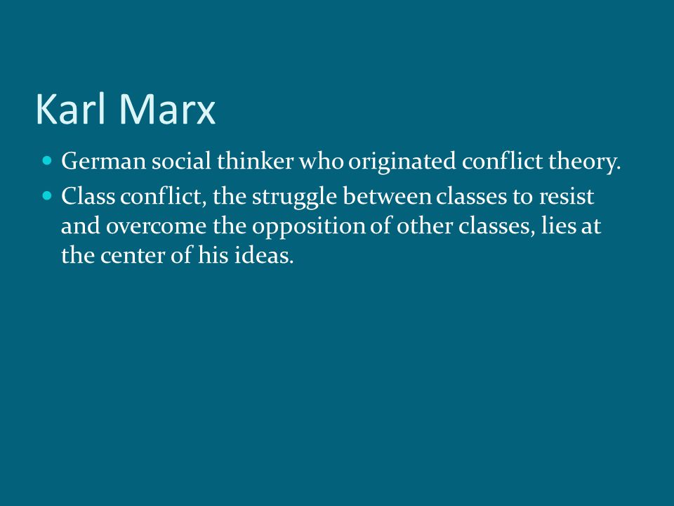 An analysis of karl marxs idea of social class and class struggle