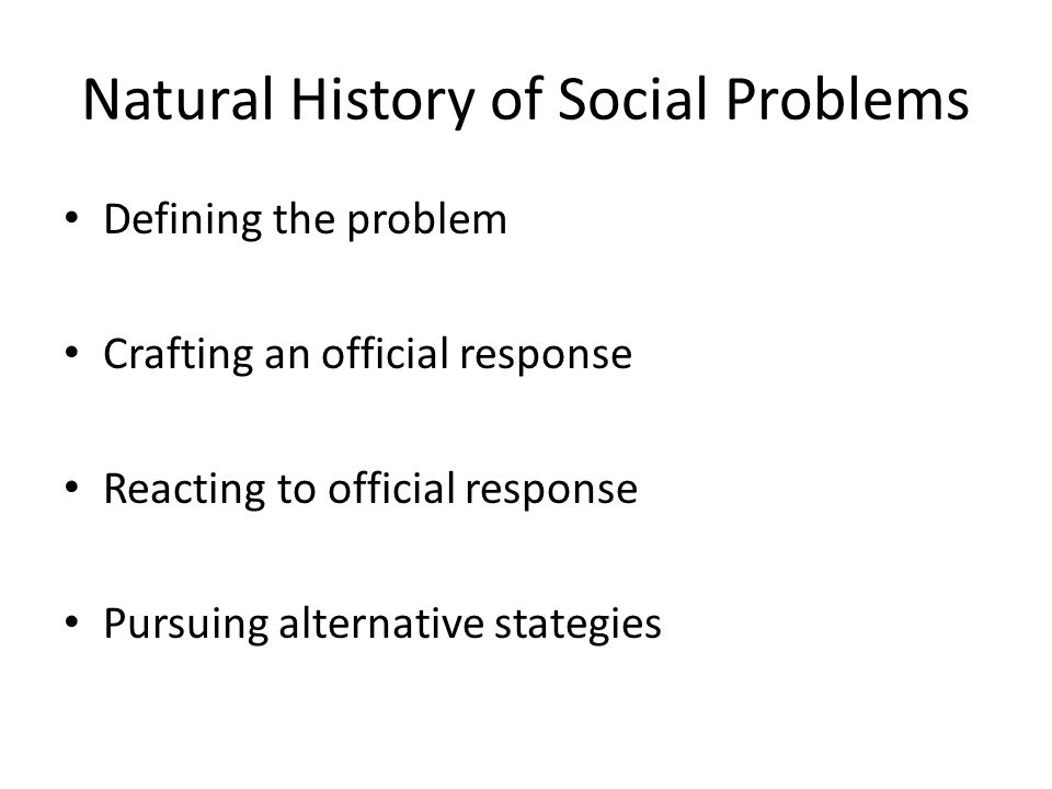 Natural History of Social Problems