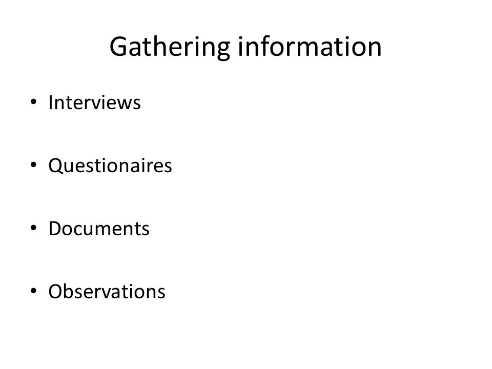 an introduction to information gathering interviews Information gathering over time by breast cancer patients  a popular way to  access current information, and since its introduction more people are turning to.