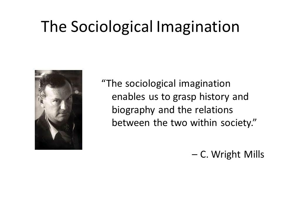 a view of society through sociological imagination Helping students develop a sociological imagination through innovative writing the sociological imagination as a sess events in society and link them.