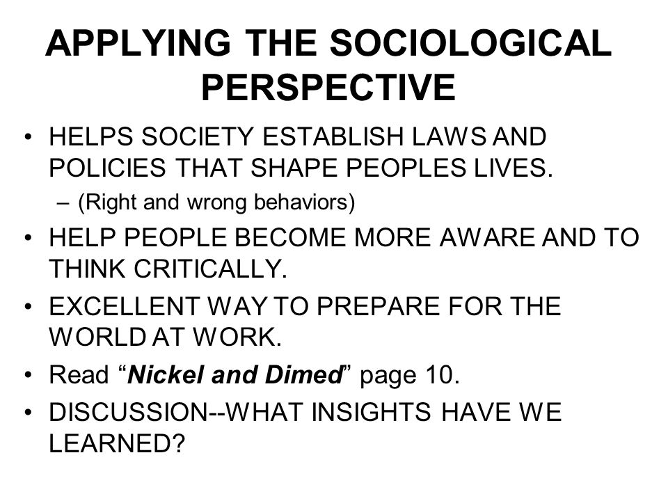 "nickel and dimed sociology In the book ""nickel and dimed: on (not) getting by in america"" barbara ehrenreich writes of her experiences working and living in what is considered mainstream america."