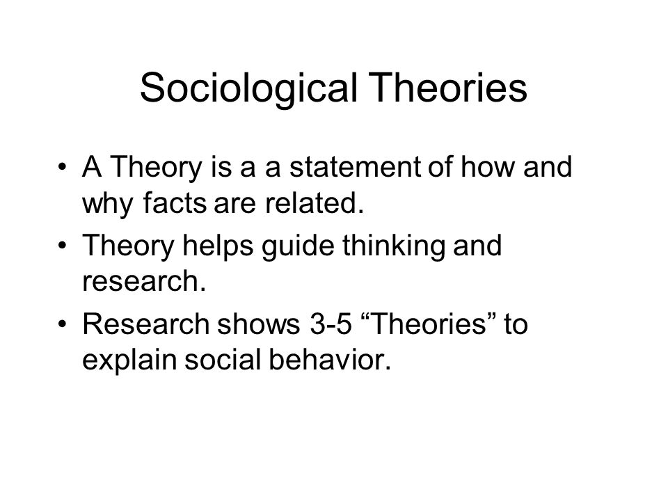 Using sociological research and theory explain
