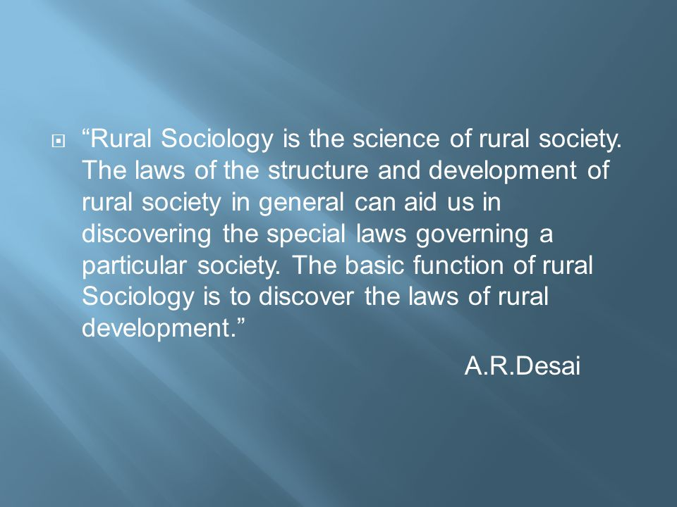 rural sociology The core historical literature of agriculture site (chla) contains the full text of core books and journals in the discipline of agriculture and related fields from 1850 to 1950.