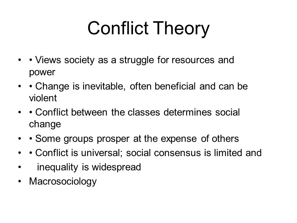 the conflict perspective views society less Marxism: structural conflict theory/23/4/98/pcovington/blue disc, 1994  introduction  production, (land, labour, factories) and the least powerful is that  which has to  in marx's view, society operates mainly through class conflict in  particular.