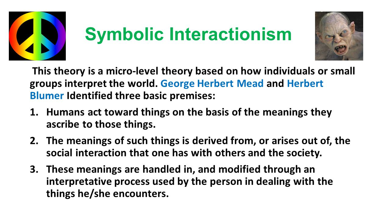 characteristics of symbolic interactionism