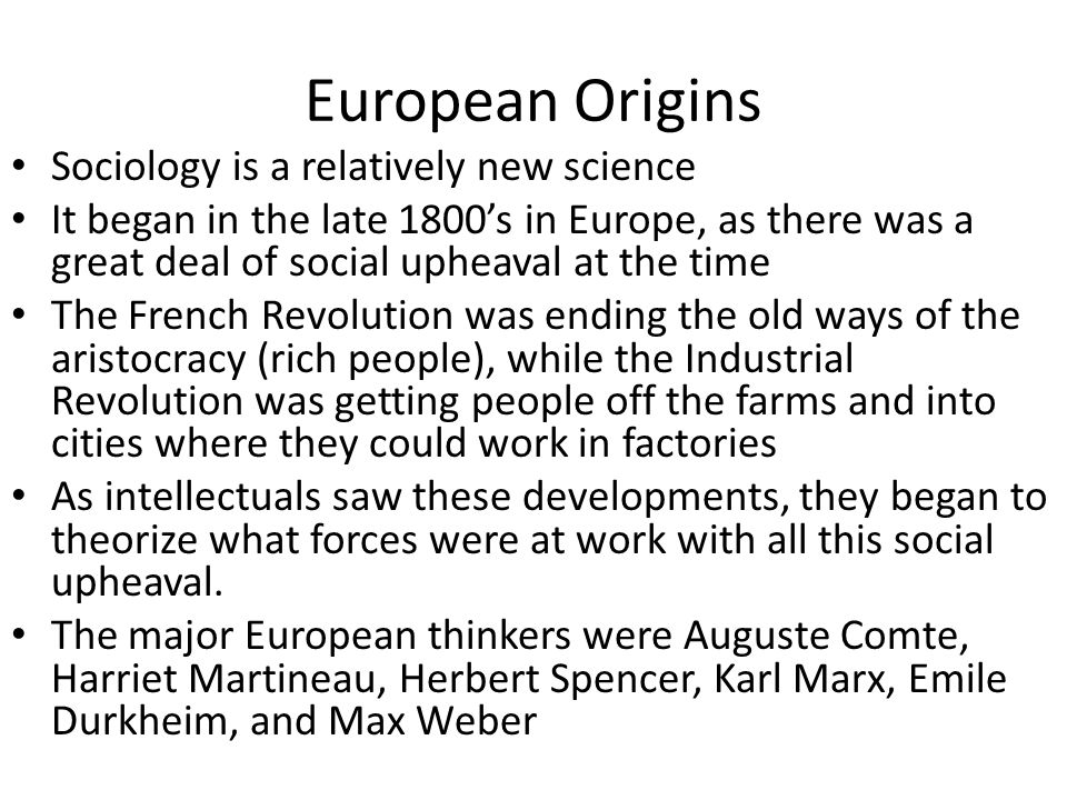durkheim and weber on the origins History of sociology jump to  classical origins the  the sociological canon of classics with durkheim and weber at the top owes in part to.