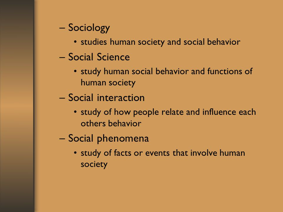 Sociology Social Science Social interaction Social phenomena