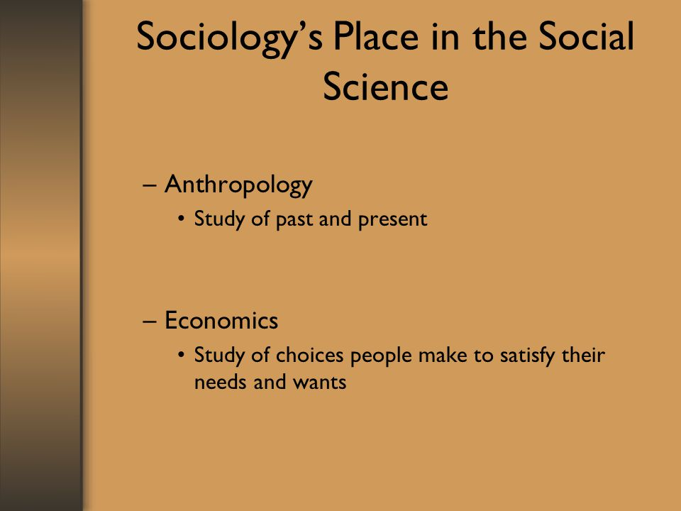 Sociology's Place in the Social Science
