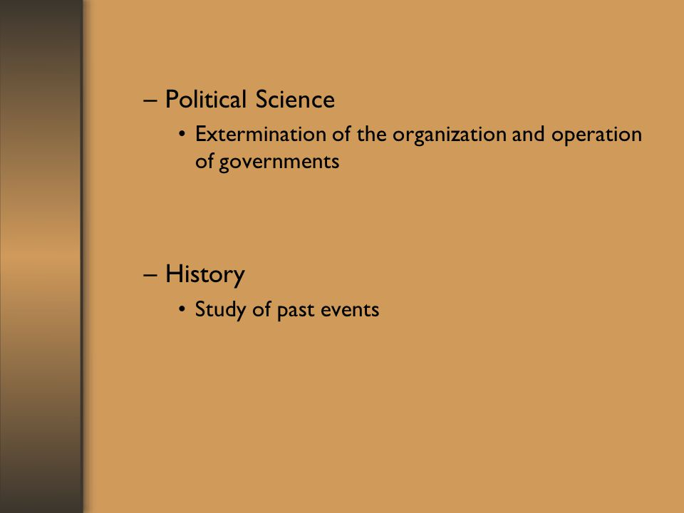 Political Science History