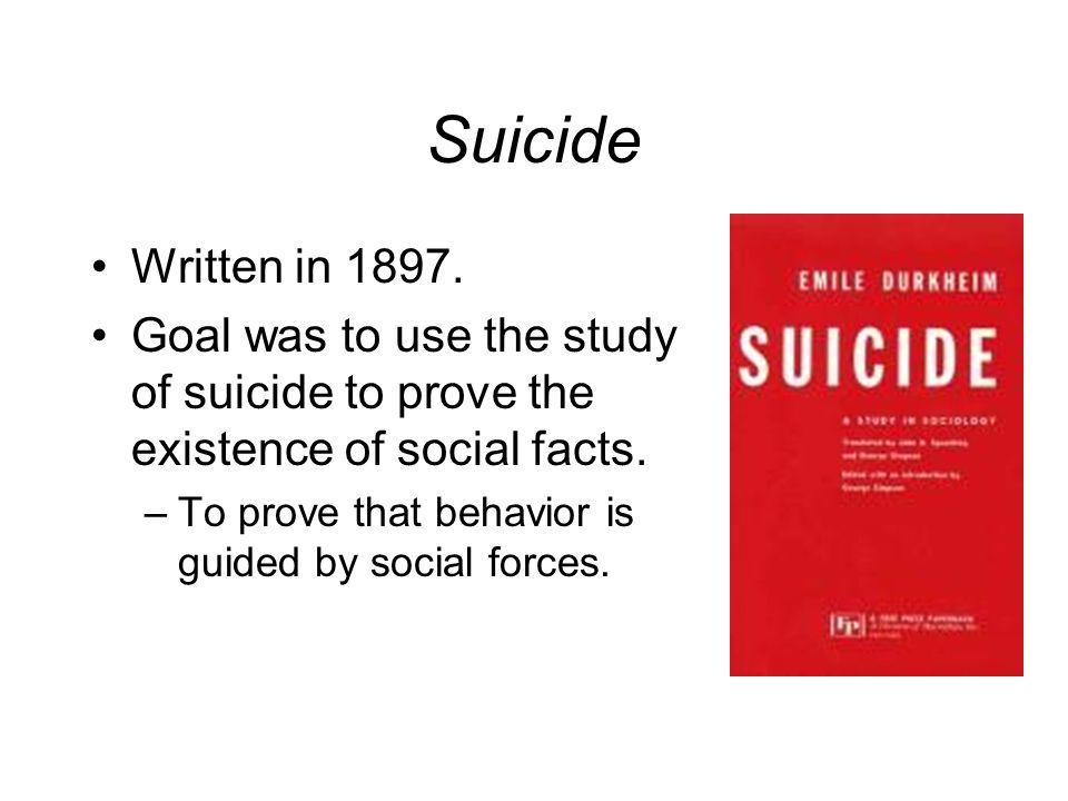 suicide emile durkheim