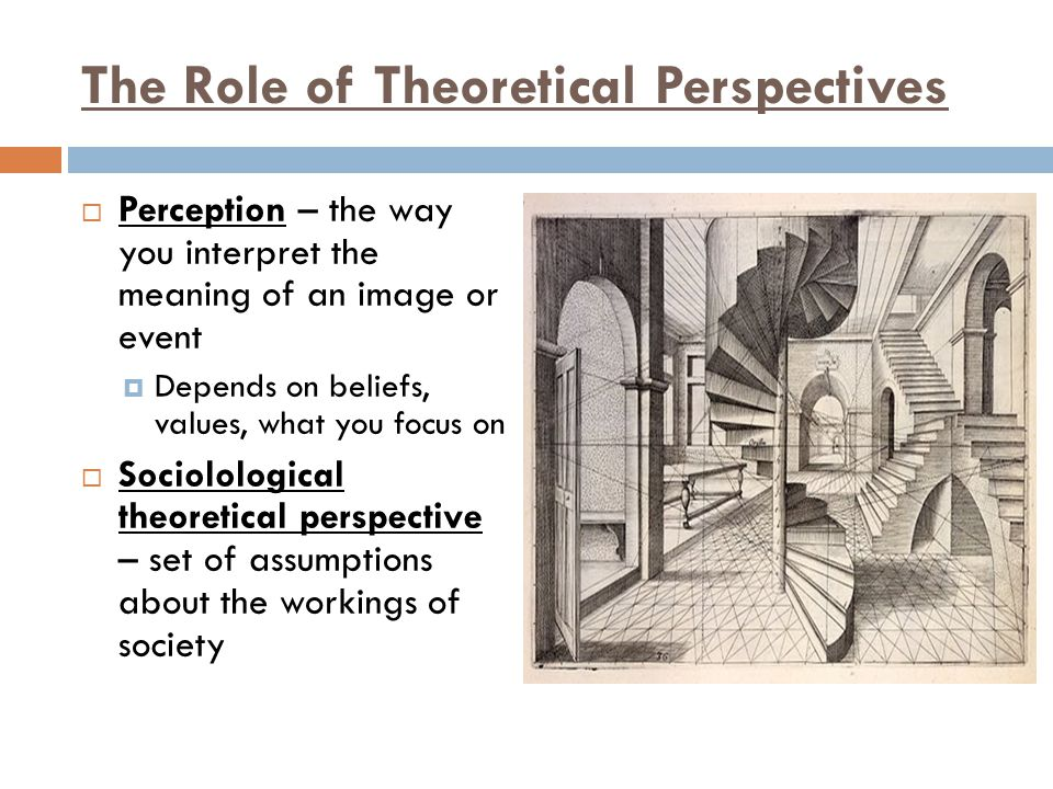 The Role of Theoretical Perspectives