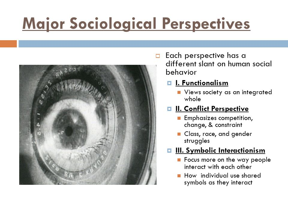 Major Sociological Perspectives