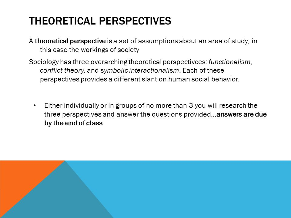 three theoretical perspectives Key theoretical concepts is one of the major theoretical perspectives in sociology feminist theory is one of the major contemporary sociological theories.