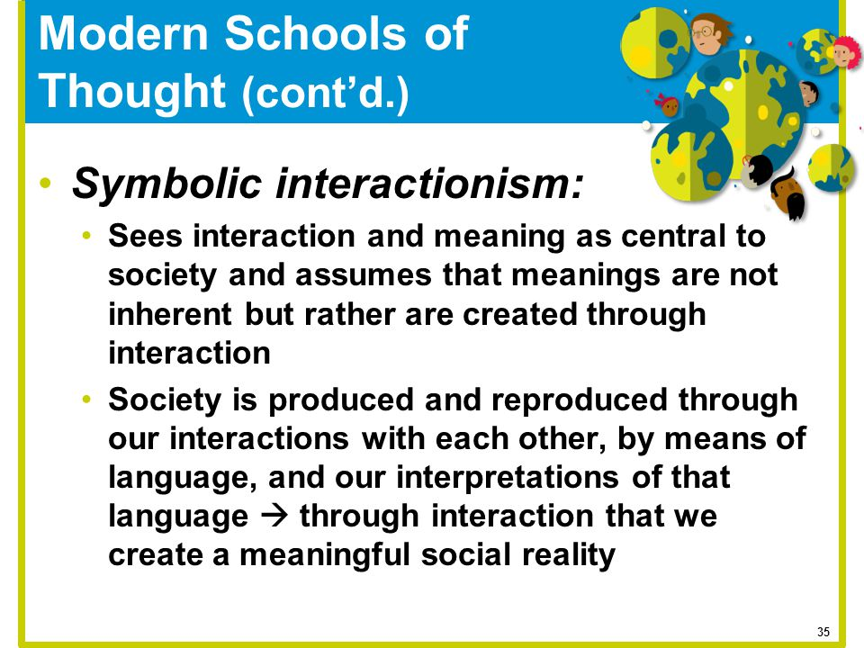 Modern Schools of Thought (cont'd.)