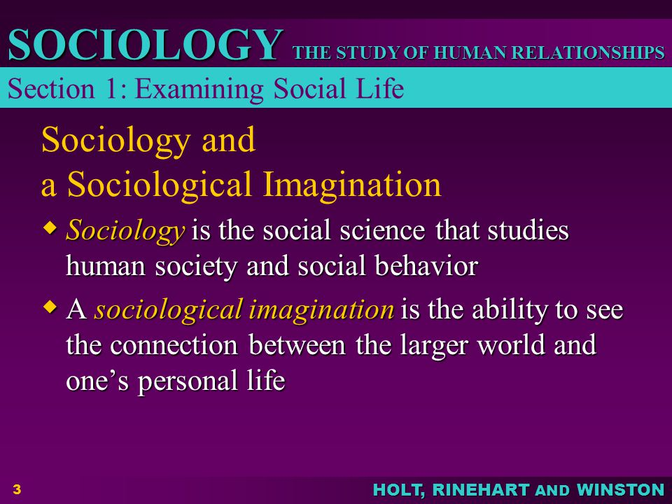 Sociology and a Sociological Imagination