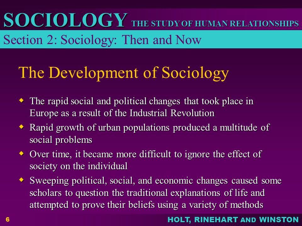 The Development of Sociology