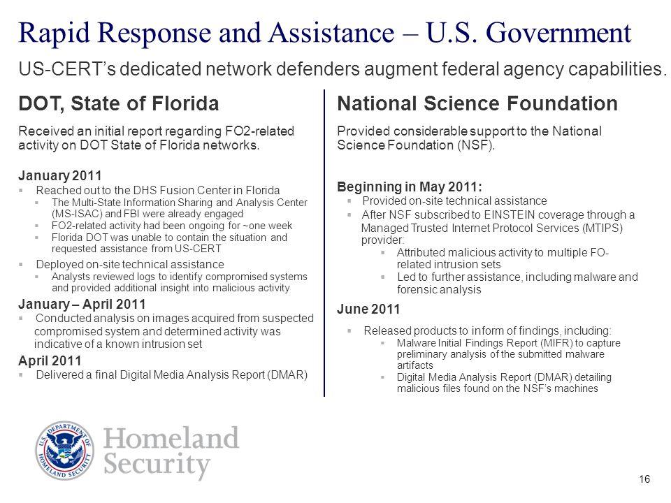 DHS / US-CERT Overview Brian Zeitz Chief, Incident ...