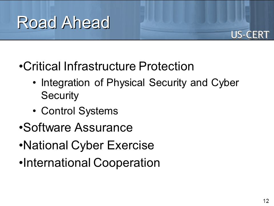 Road Ahead Critical Infrastructure Protection Software Assurance