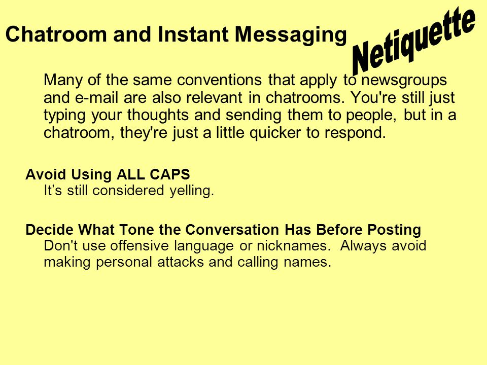 How to Avoid Annoying Others when Instant Messaging pictures