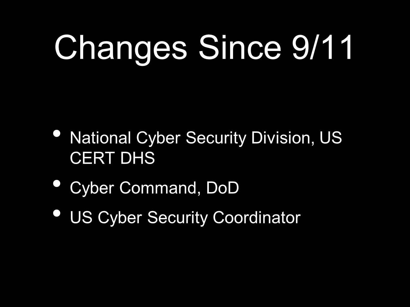 personal changes since 9 11 How federal security background checks have changed since 9/11 since september 11, 2001, the federal government has become involved in many aspects of security that were previously handled by private companies.