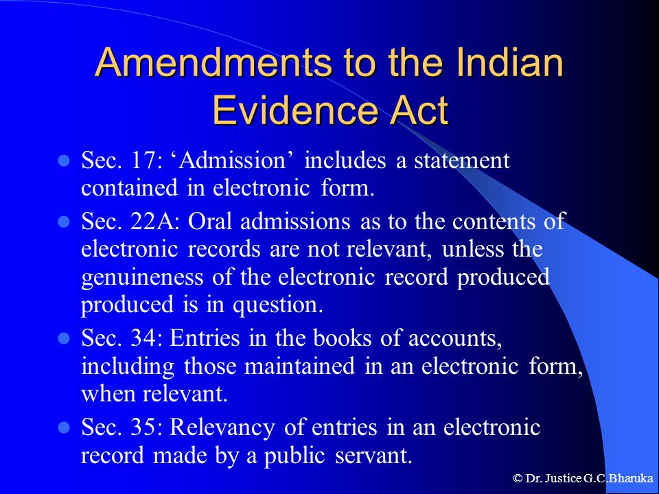 indian evidence act 2013