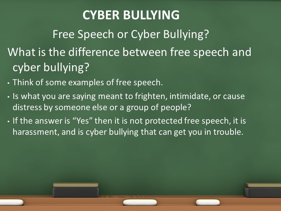 Free Speech or Cyber Bullying