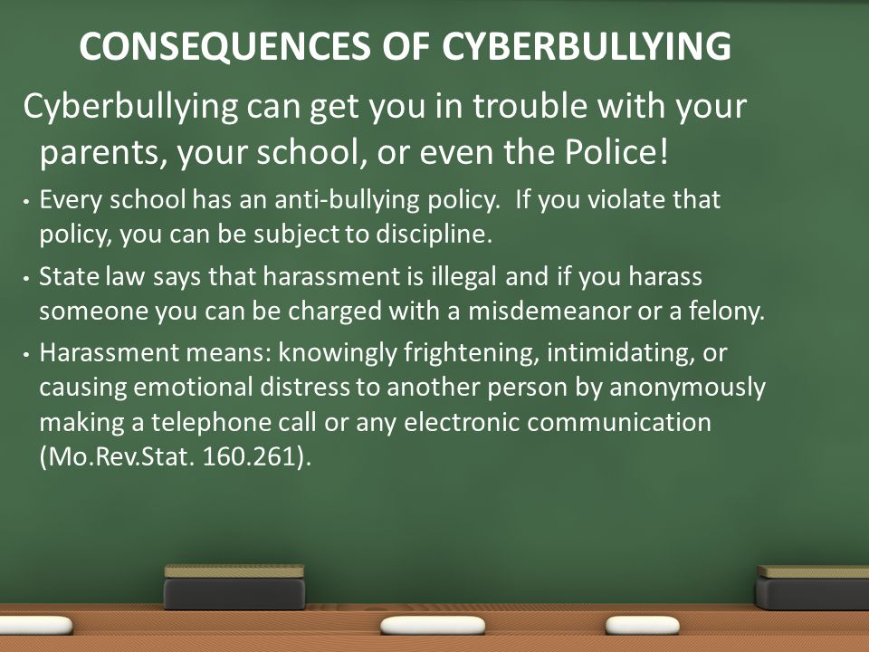 Consequences of Cyberbullying