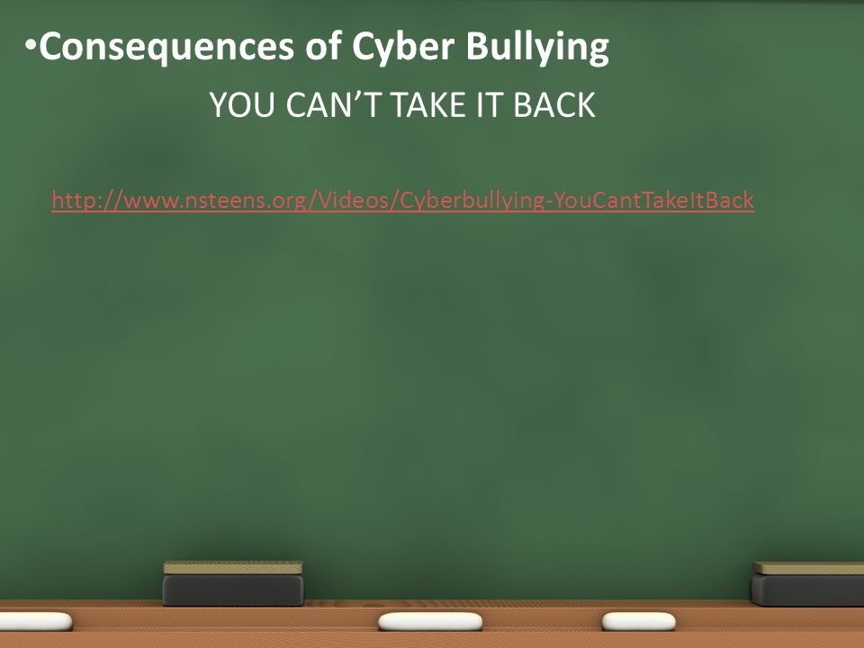 Consequences of Cyber Bullying
