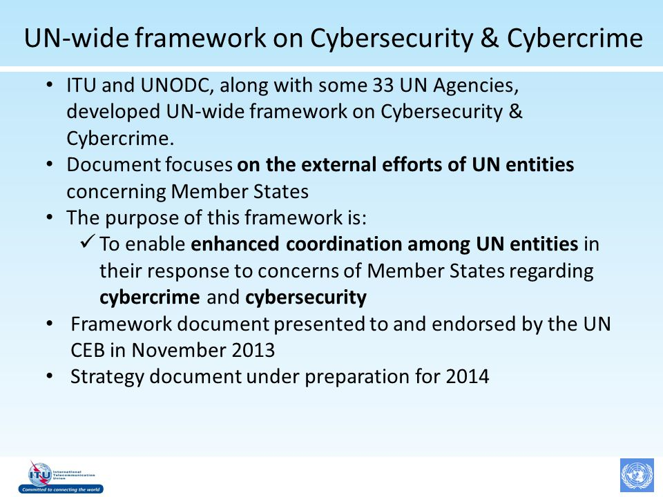 ITU activities on Cyber security - ppt download
