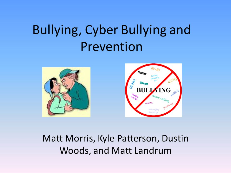 prevent bullying To prevent bullying before it starts, we need to focus on how bullying behaviors develop.