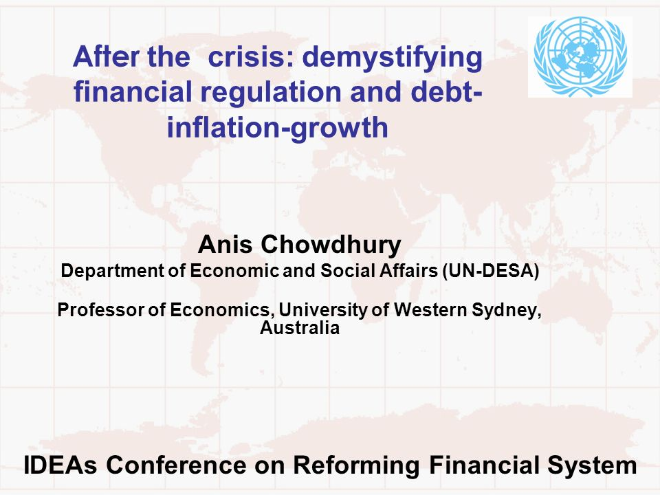 After the crisis: demystifying financial regulation and debt-inflation-growth