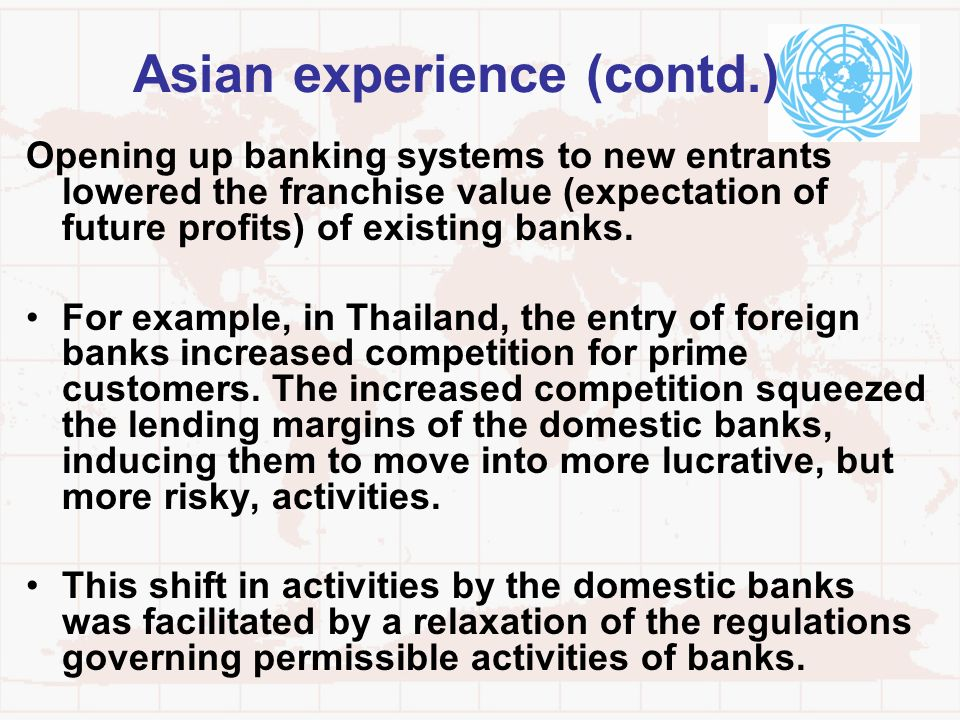 Asian experience (contd.)