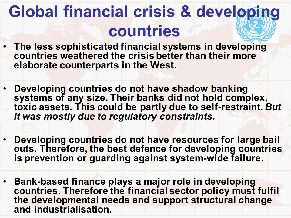 Global financial crisis & developing countries