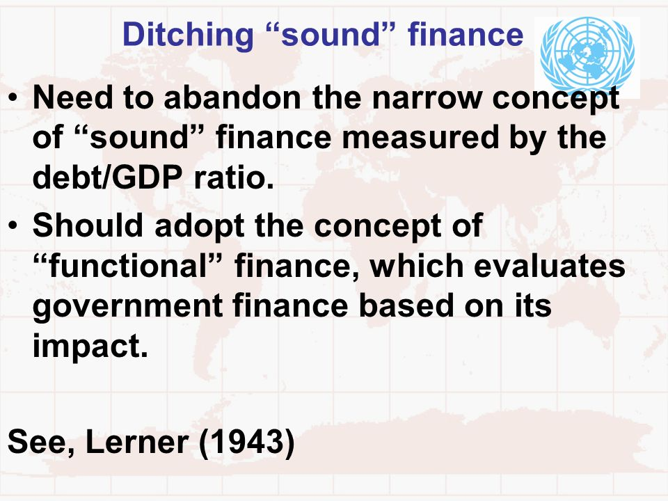 Ditching sound finance
